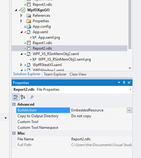 Reporting Services working with X# - in-memory object based