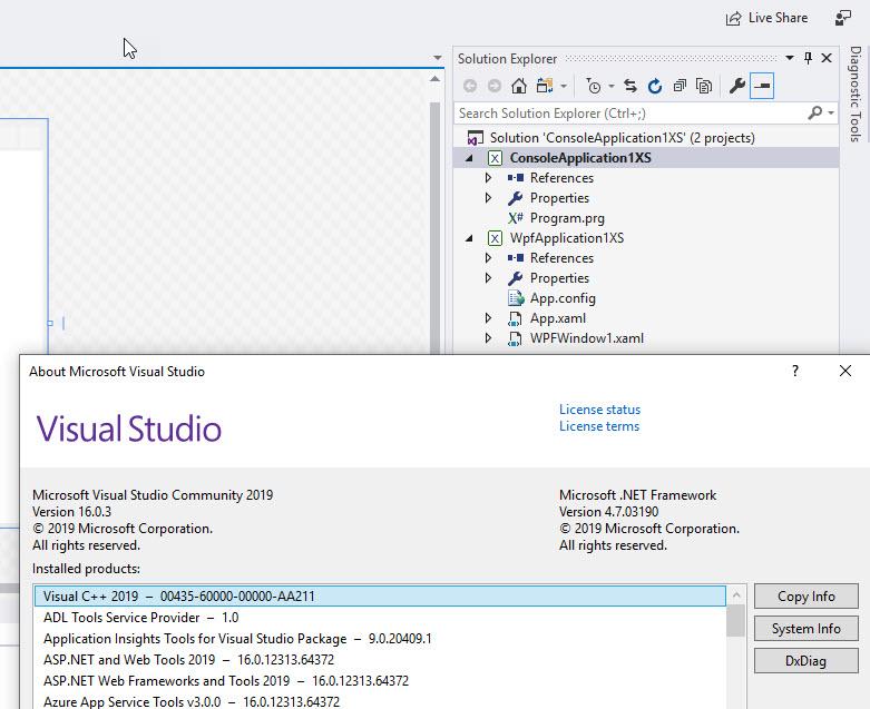 Visual Studio 2019 and X# - images of success - XSharp