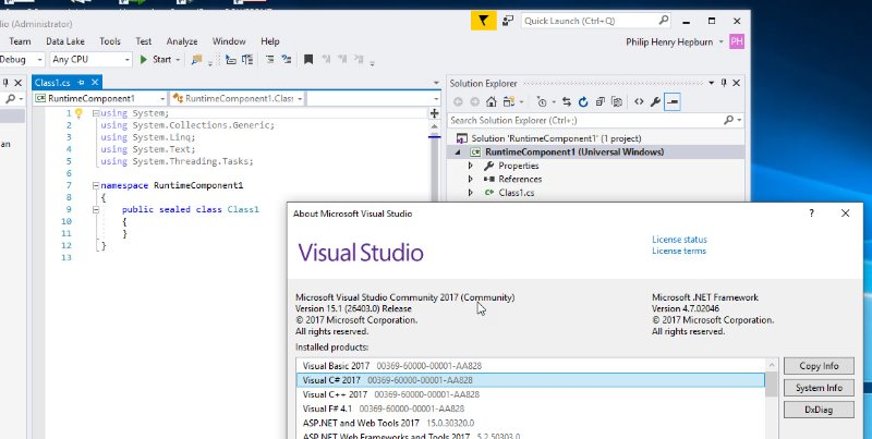 Who is using Visual Studio 2017 for Universal Apps? - XSharp Forums
