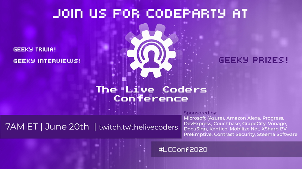 CodeParty+live coders conference+Twitter